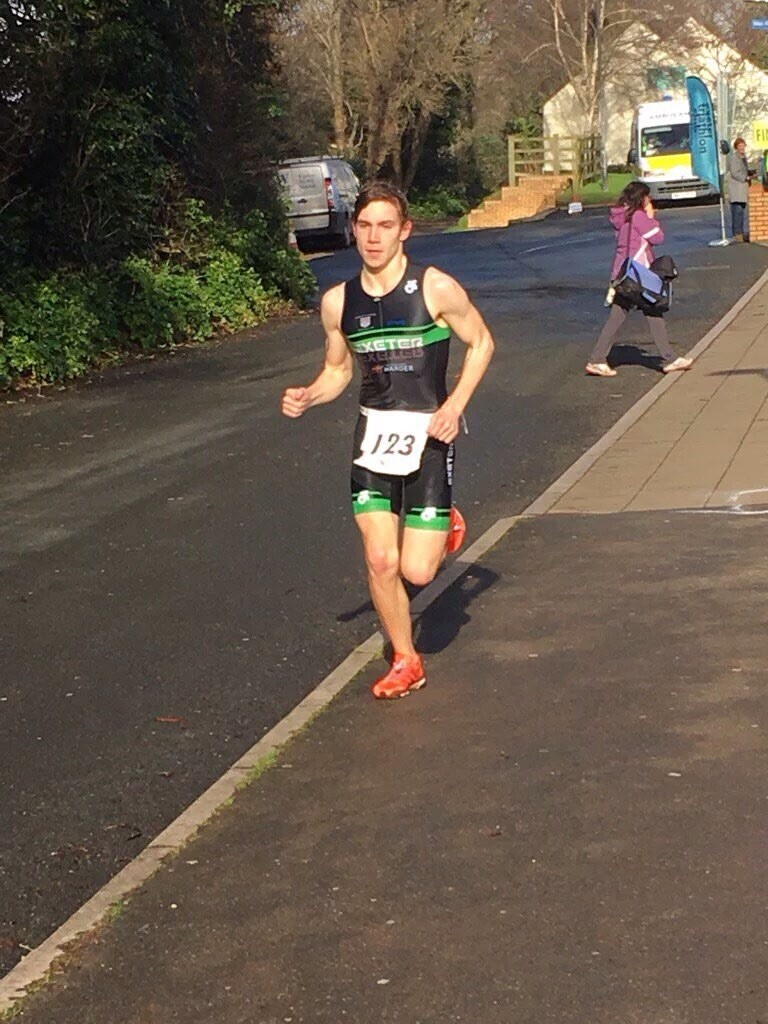 Exeter Uni student scoops gold at first of ETC aquathlon series