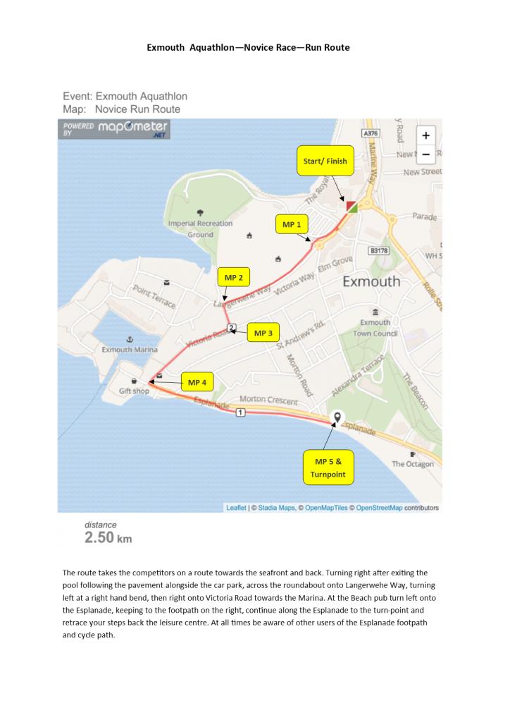 Novice Race Run Route