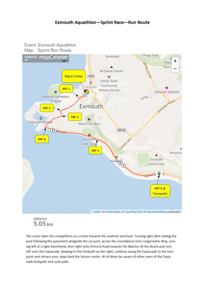 Sprint Run Route